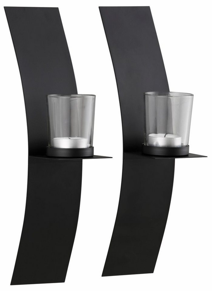home affaire wandkerzenhalter 2er set aus lackiertem metall online kaufen otto. Black Bedroom Furniture Sets. Home Design Ideas