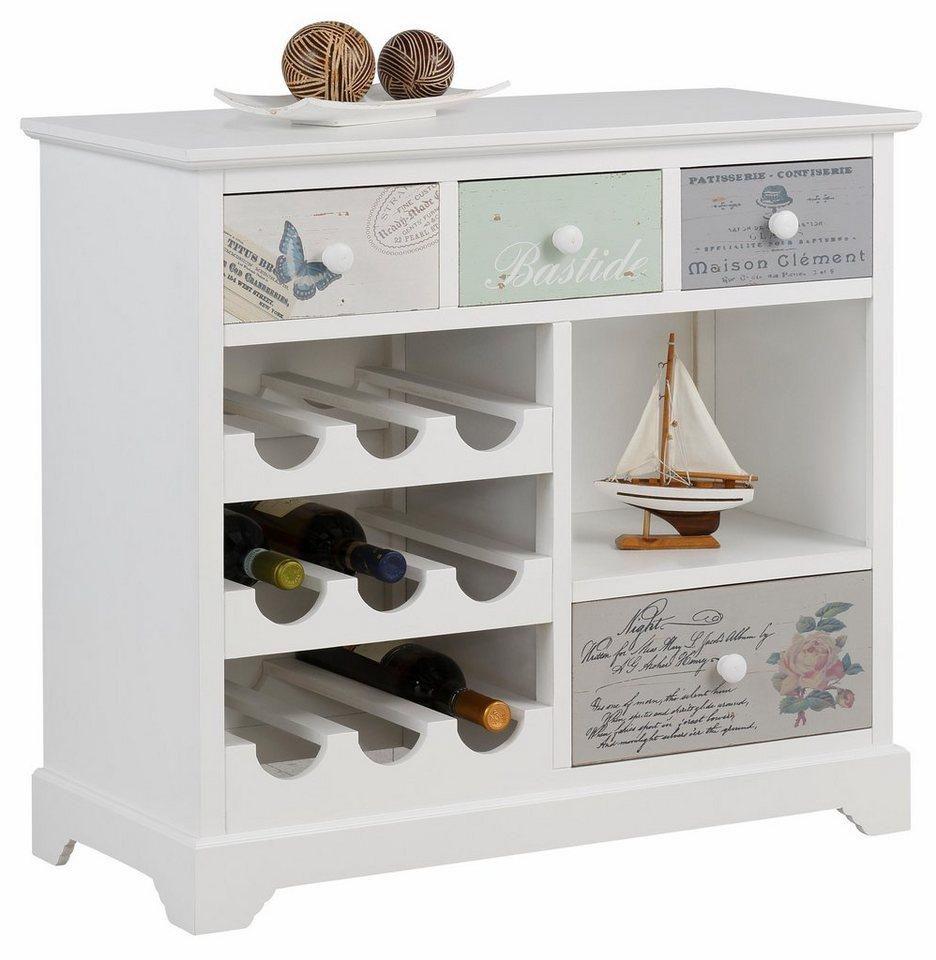 home affaire weinregal romatik pastell breite 80 cm online kaufen otto. Black Bedroom Furniture Sets. Home Design Ideas