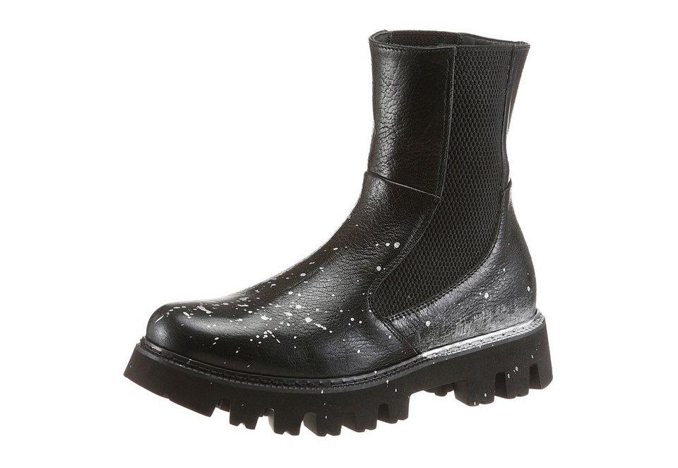 NOCLAIM Chelseaboots in schwarz-silberfarben