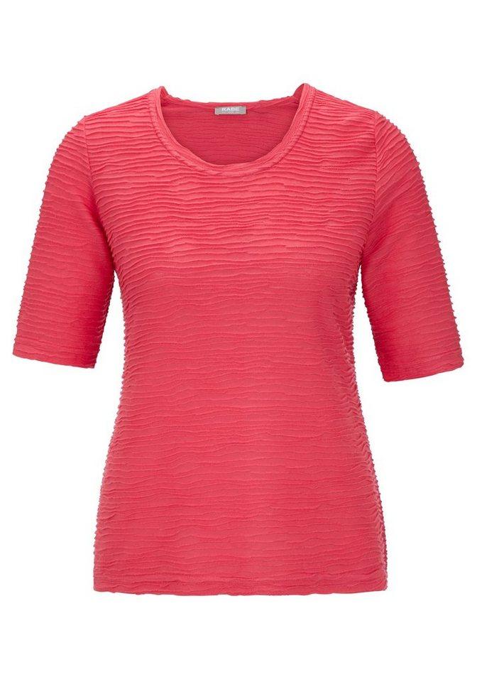Rabe T-Shirt mit Struktur in HIMBEERE