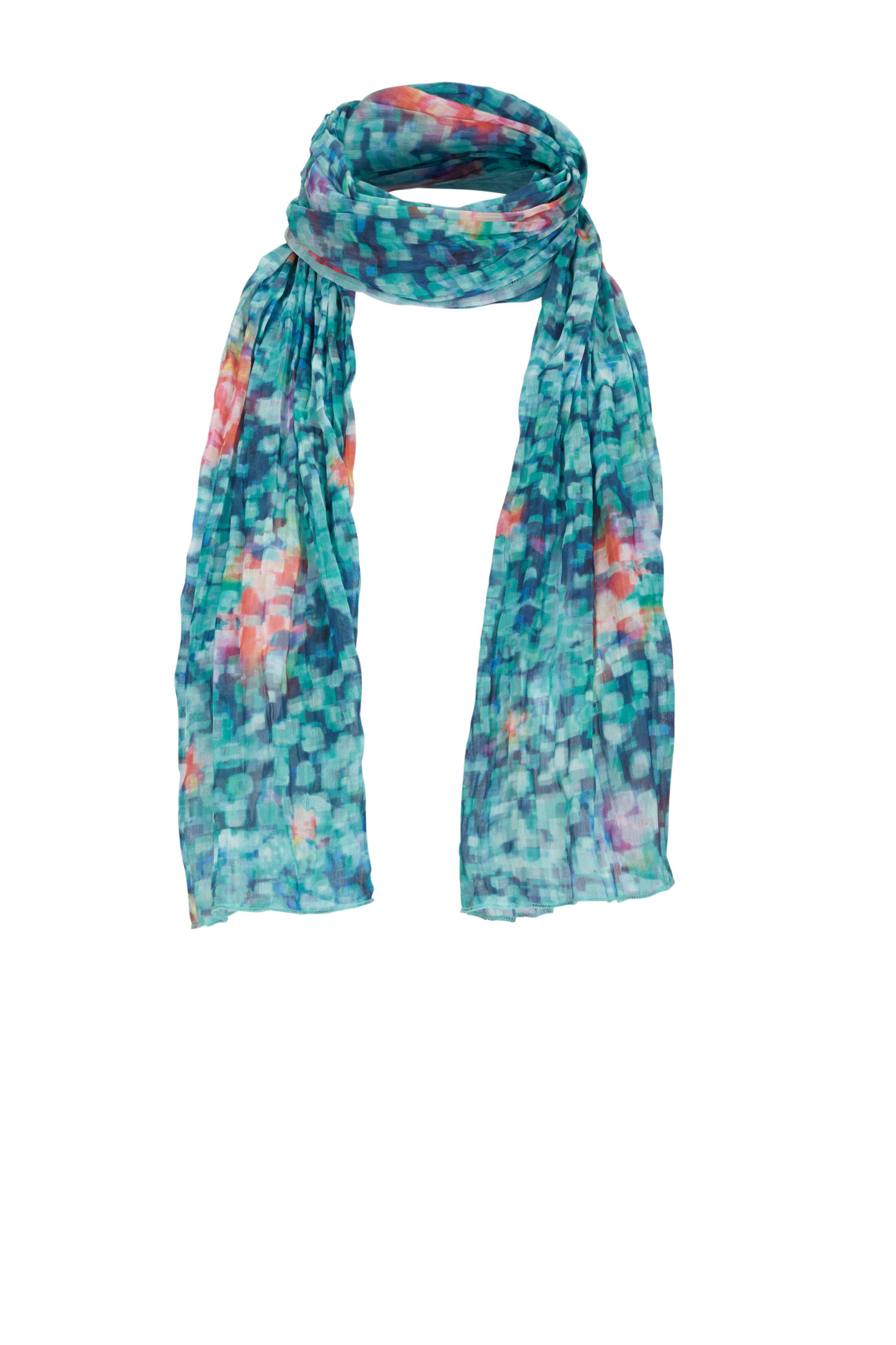 Rabe Schal mit Blumen im Tupfen-Design