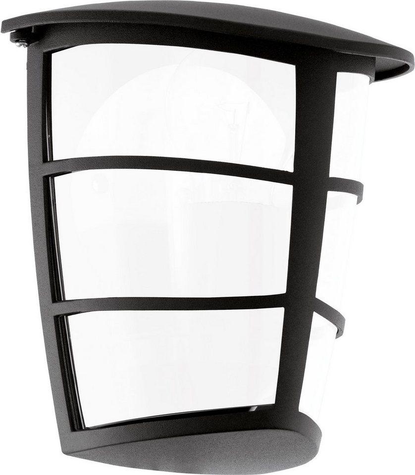 Eglo LED Außenleuchte, 1flg., Wandleuchte , »ALORIA LED« in Aluguss schwarz/Kunststoff weiß