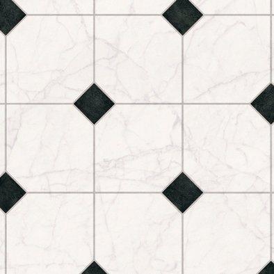 PVC-Boden »Strong«, Fliese weiß-schwarz in schwarz/weiß
