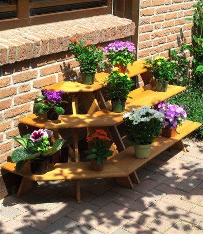 Blumentreppe »Ecke« in braun