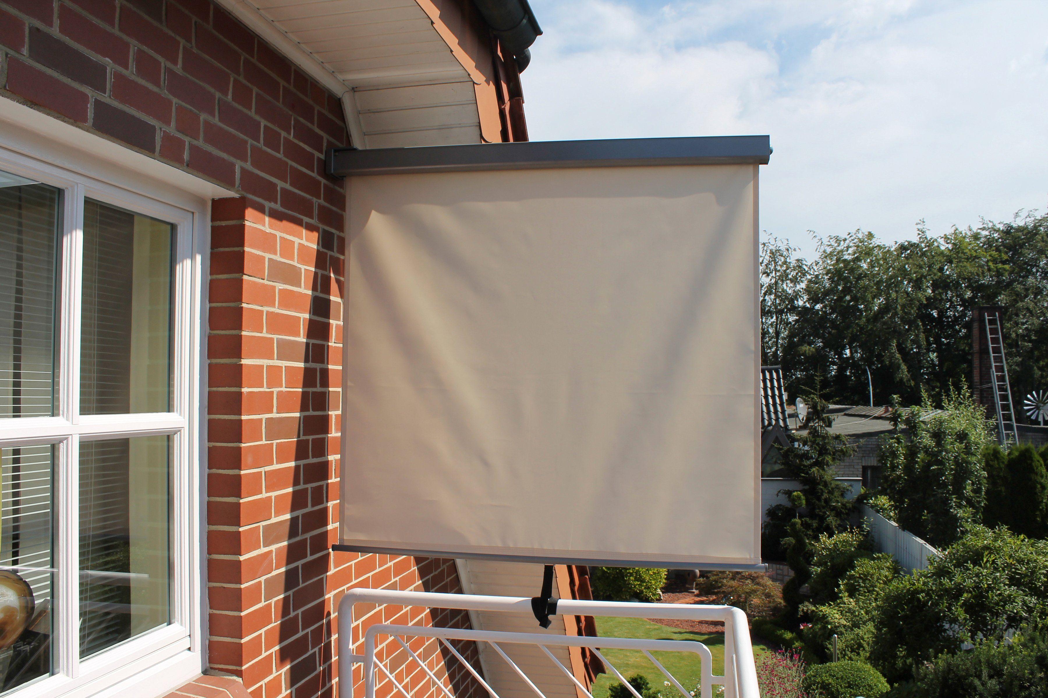 Balkonmarkise, BxH: 120 x 200 cm, naturfarben