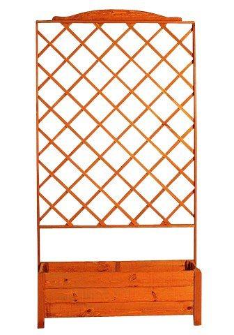 Holzspalier mit Pflanzkasten (BxH: 110x210 cm) | Garten > Pflanzen > Pflanzkästen | promadino