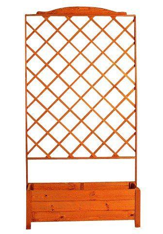 Holzspalier mit Pflanzkasten (BxH: 110x210 cm)