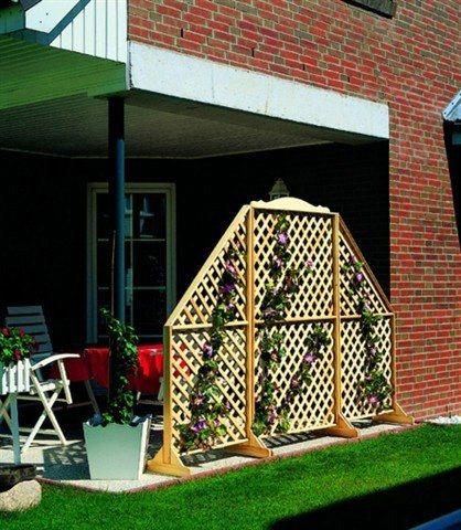 Holzspalier (H: 180 cm) in braun