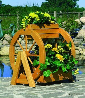 Pflanzkasten »Blumenrad« in braun