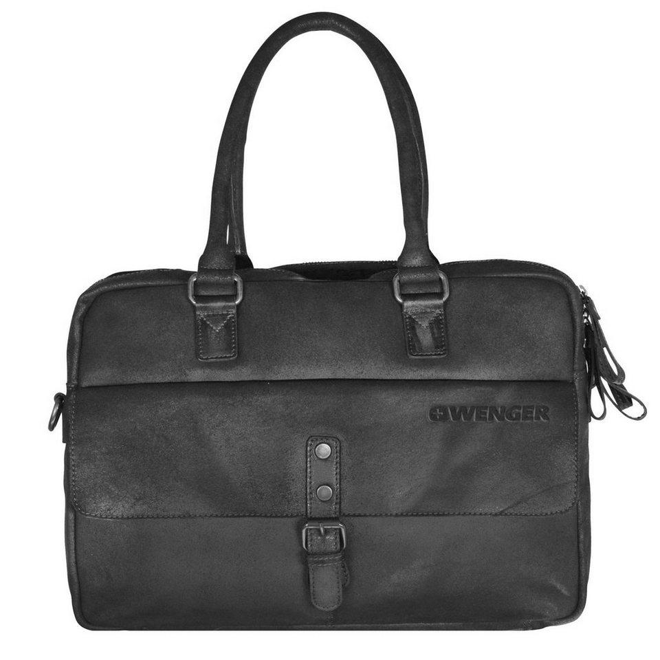 Wenger Foggy Aktentasche Leder 41 cm Laptopfach in black