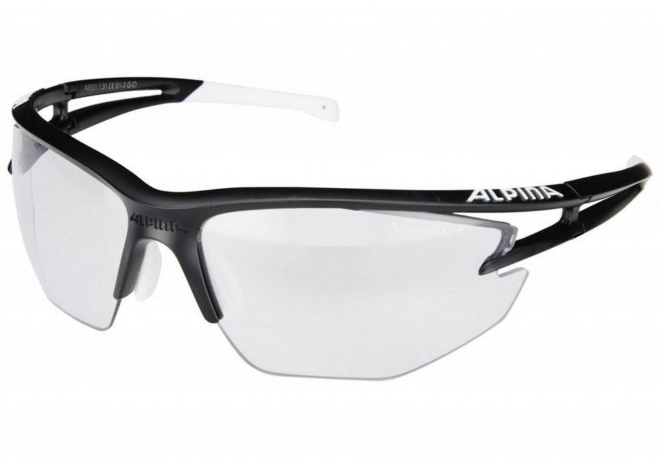 Alpina Radsportbrille »Eye-5 HR VL+« in schwarz