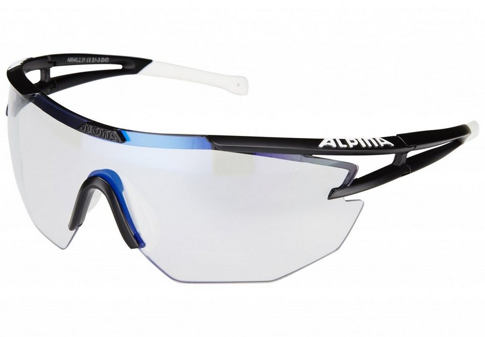 Alpina Radsportbrille »Eye-5 Shield VLM+« in schwarz