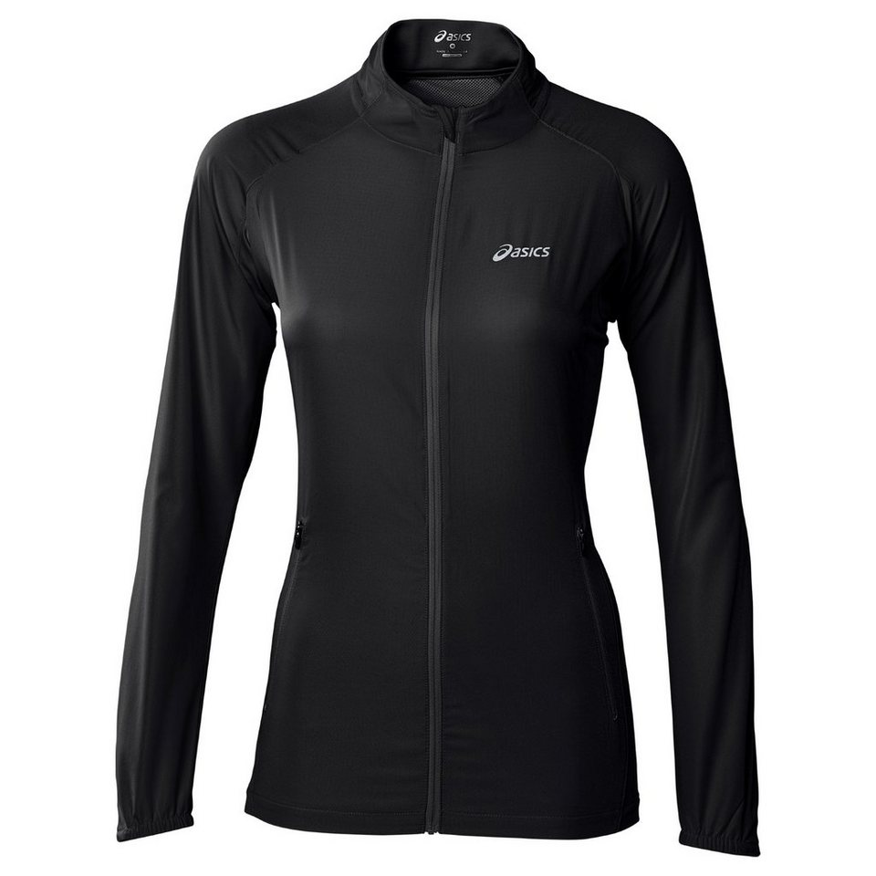 Asics Trainingsjacke »Woven Jacket Women« in schwarz