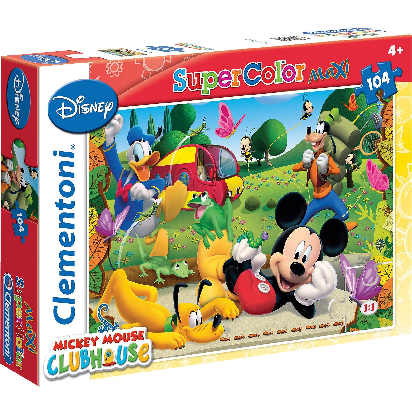 Clementoni Maxi Puzzle 104 Teile - Micky Maus