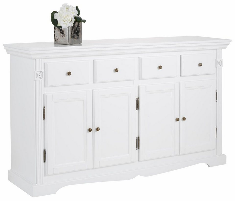 Home affaire Sideboard »Romantic«, Breite 158 cm in weiß