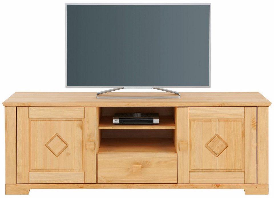 Home affaire Lowboard »Quadro«, Breite 160 cm in gelaugt/geölt