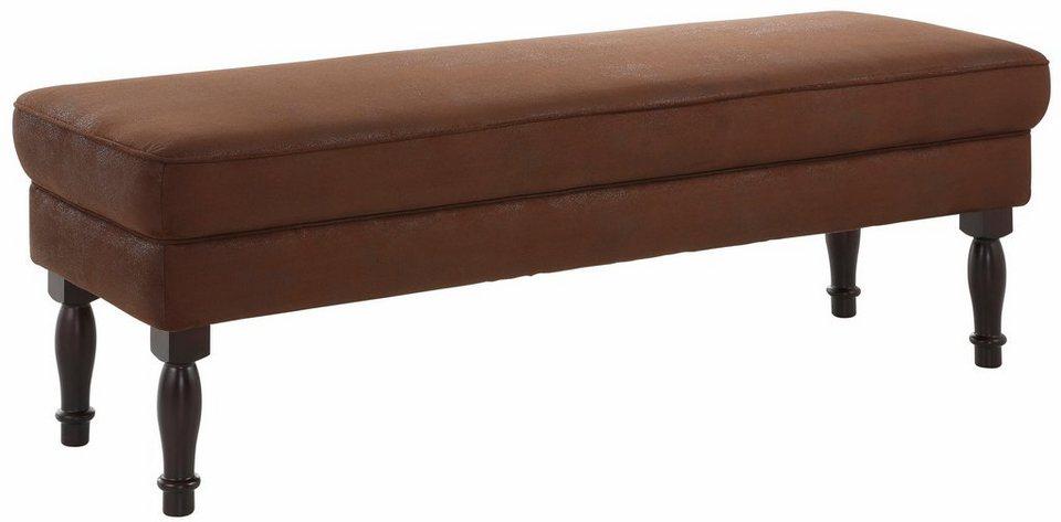 Home affaire »Lancaster« 3er-Sitzbank, 154 cm Breite, ideal auch als Speisemöbel in schoko