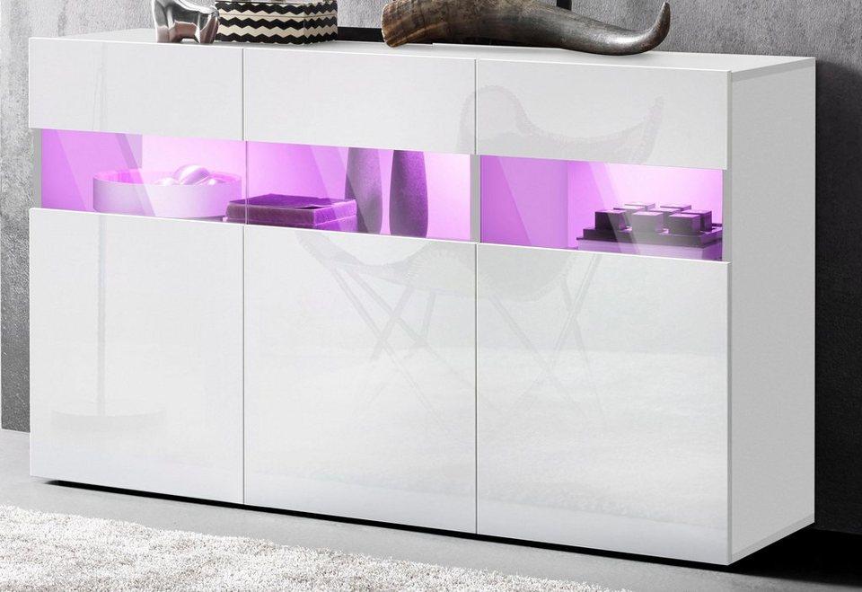 Tecnos Sideboard Breite 130 Cm 3 Türen Online Kaufen Otto
