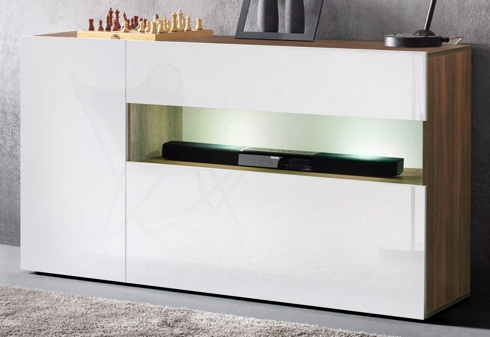 sideboards wei hochglanz trendy sideboard weiss hochglanz tiefgezogen schwarz jetzt bestellen. Black Bedroom Furniture Sets. Home Design Ideas