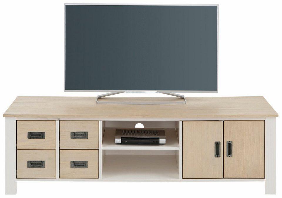 Home affaire TV-Lowboard »Madagaskar«, Breite 150 cm in weiß/hellbraun