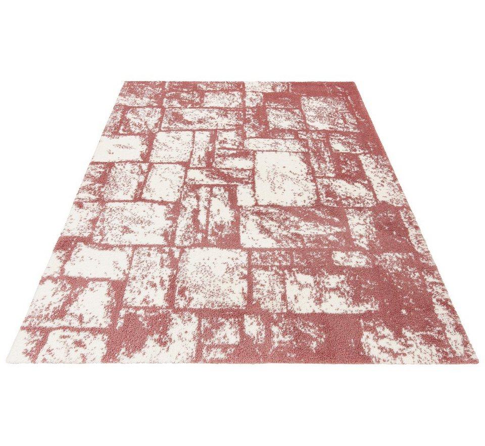 Hochflor-Teppich, my home, »Ellen«, Höhe 32 mm, gewebt in fuchsia