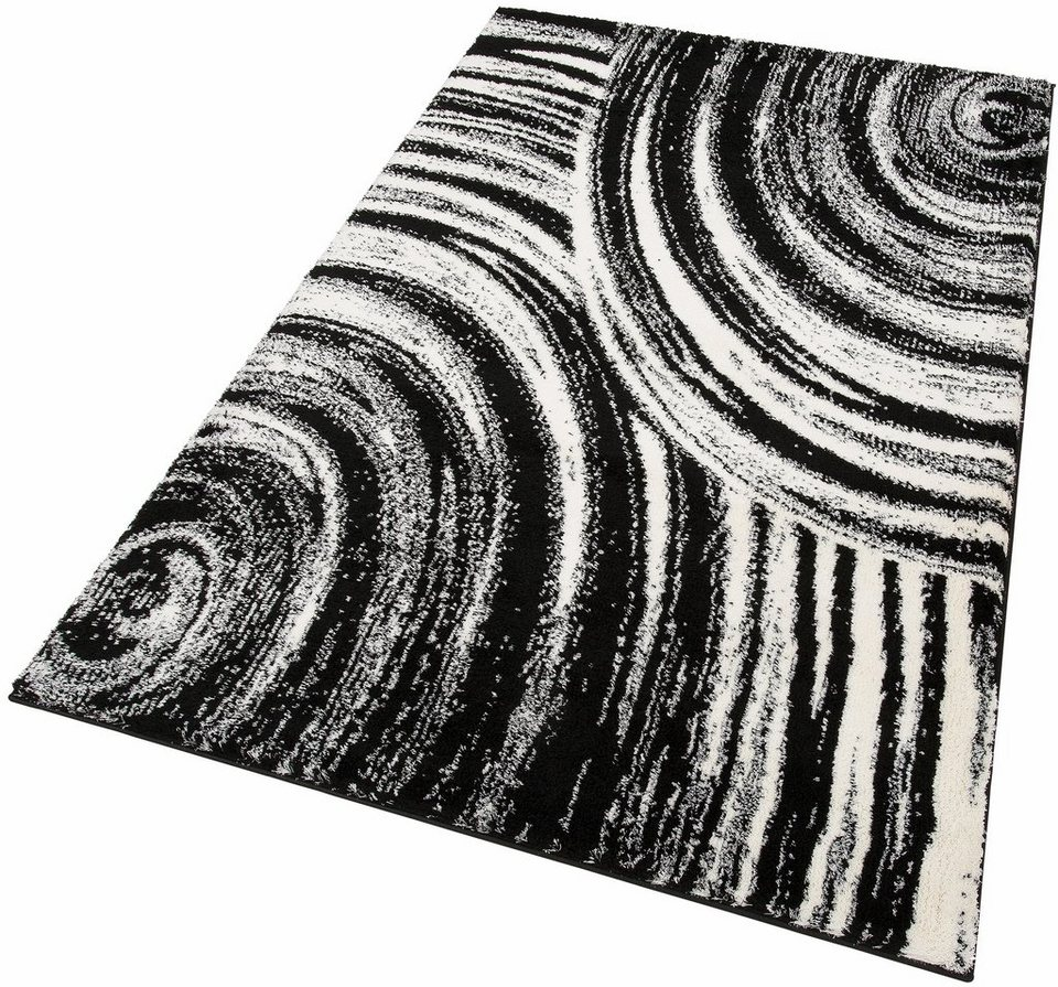 Hochflor-Teppich, my home, »Alva«, Höhe 32 mm, gewebt in schwarz