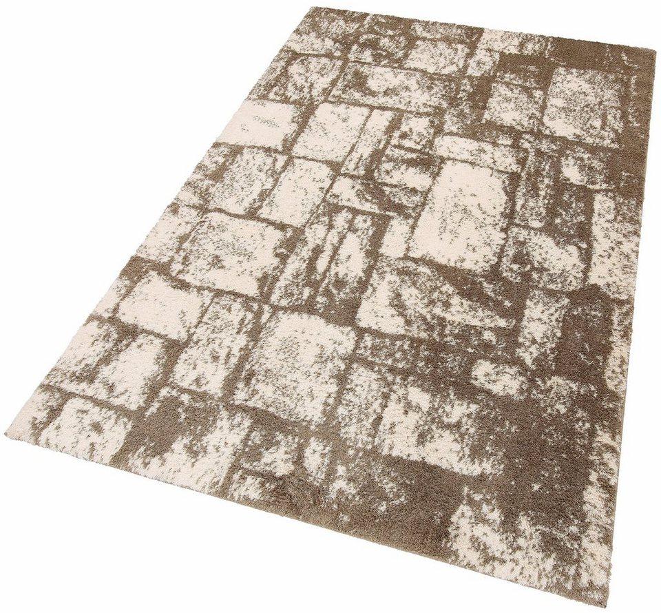 Hochflor-Teppich, my home, »Ellen«, Höhe 32 mm, gewebt in creme