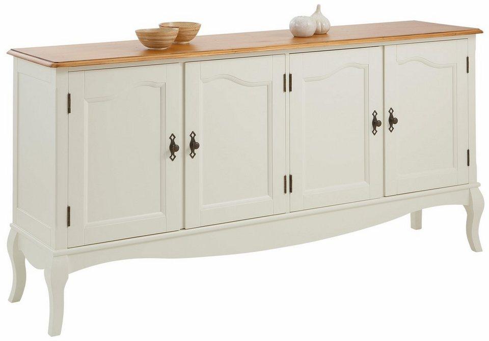 Home affaire Sideboard »Harmony«, Breite 178 cm in creme/honigfarben