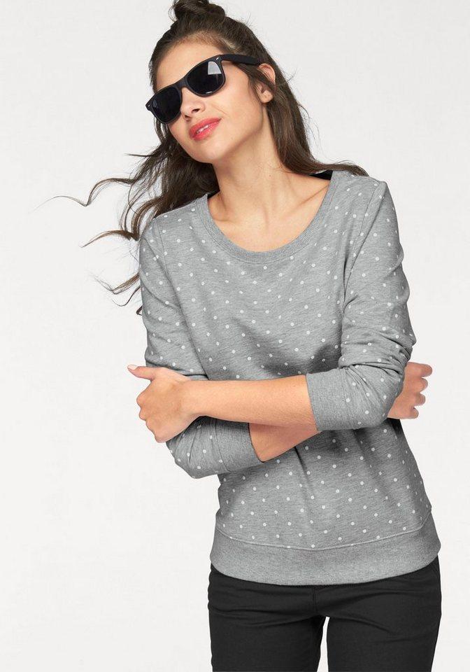 AJC Sweatshirt mit Pünktchen in grau-gepunktet