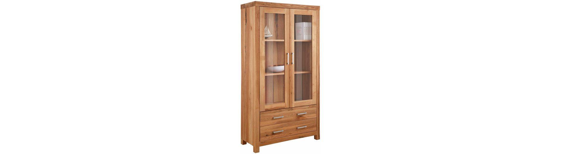 Premium collection by Home affaire Vitrinenschrank »Madeira«, mit 2 Schubladen, Breite 103 cm