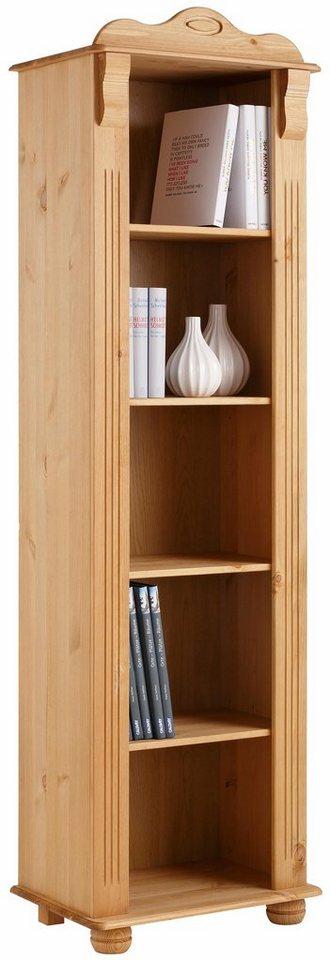 Home affaire Bücherregal »Adele«, Höhe 185 cm in gelaugt/geölt