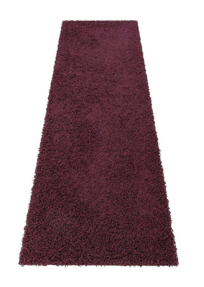Hochflor-Läufer, Bruno Banani, »Shaggy 50«, Höhe 50 mm, maschinell getuftet in lila