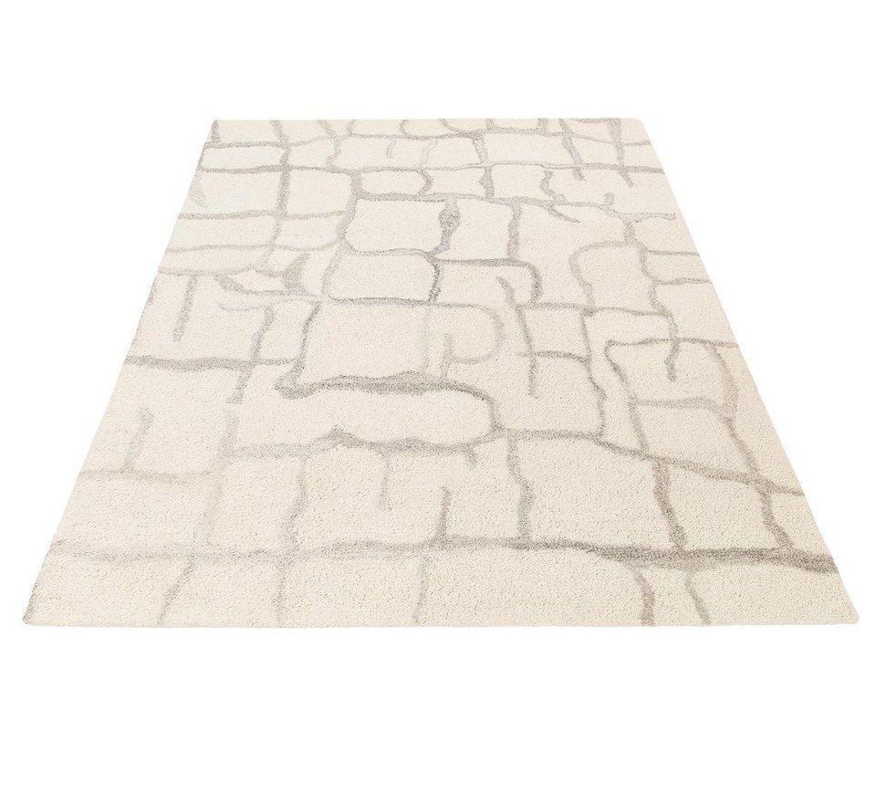 Teppich, Theko Exklusiv, »Moroccan 5«, reine Schurwolle, handgetuftet in creme grau