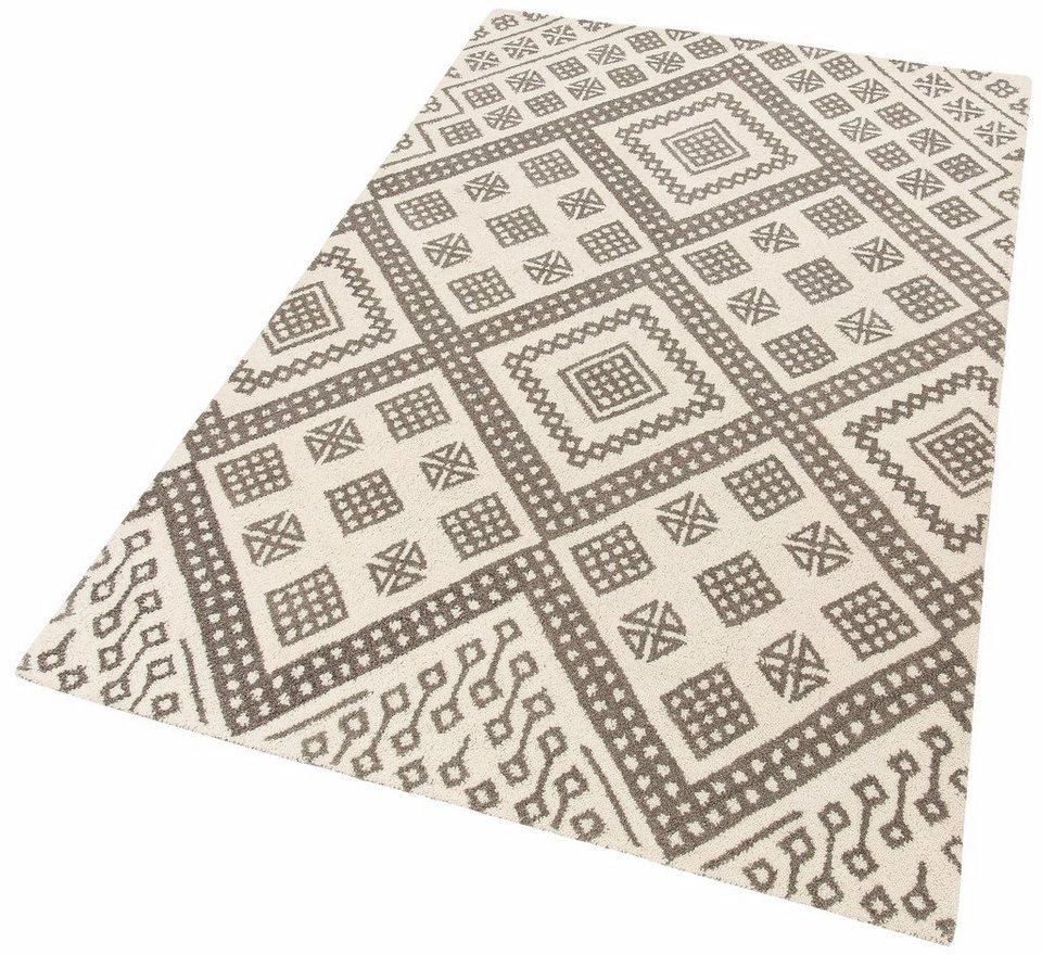 Teppich, Theko Exklusiv, »Moroccan 6«, reine Schurwolle, handgetuftet in creme grau
