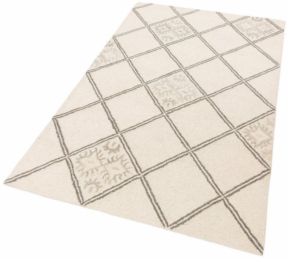 Teppich, Theko Exklusiv, »Moroccan 4«, reine Schurwolle, handgetuftet in creme grau
