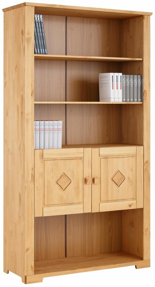Home affaire Bücherregal »Quadro«, Breite 116 cm in gelaugt/geölt