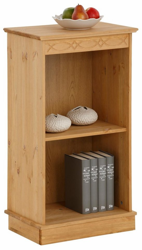 Home affaire Bücherregal »Indra«, in 5 verschiedenen Größen in gelaugt/geölt