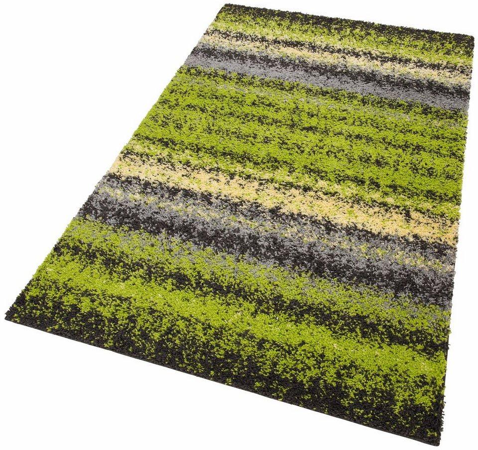 Hochflor-Teppich, my home, »Fabia«, Höhe 30 mm, gewebt in grün