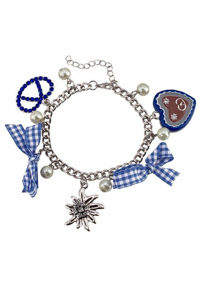 J. Jayz Armband mit Herz in silberfarben-blau