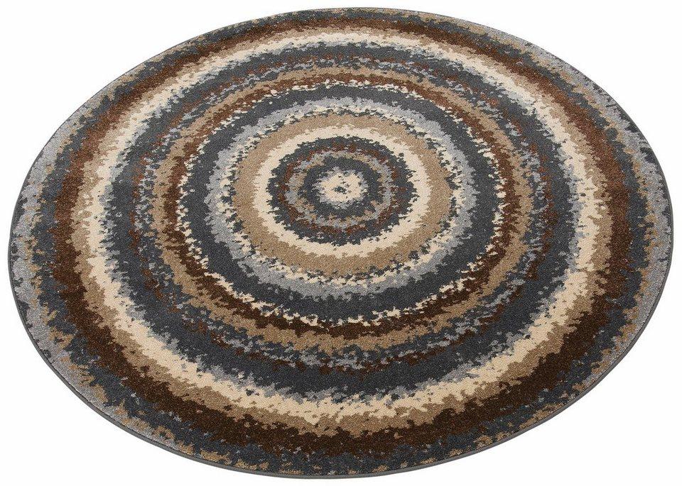 Teppich, rund, my home, »Flavia«, gewebt in taupe
