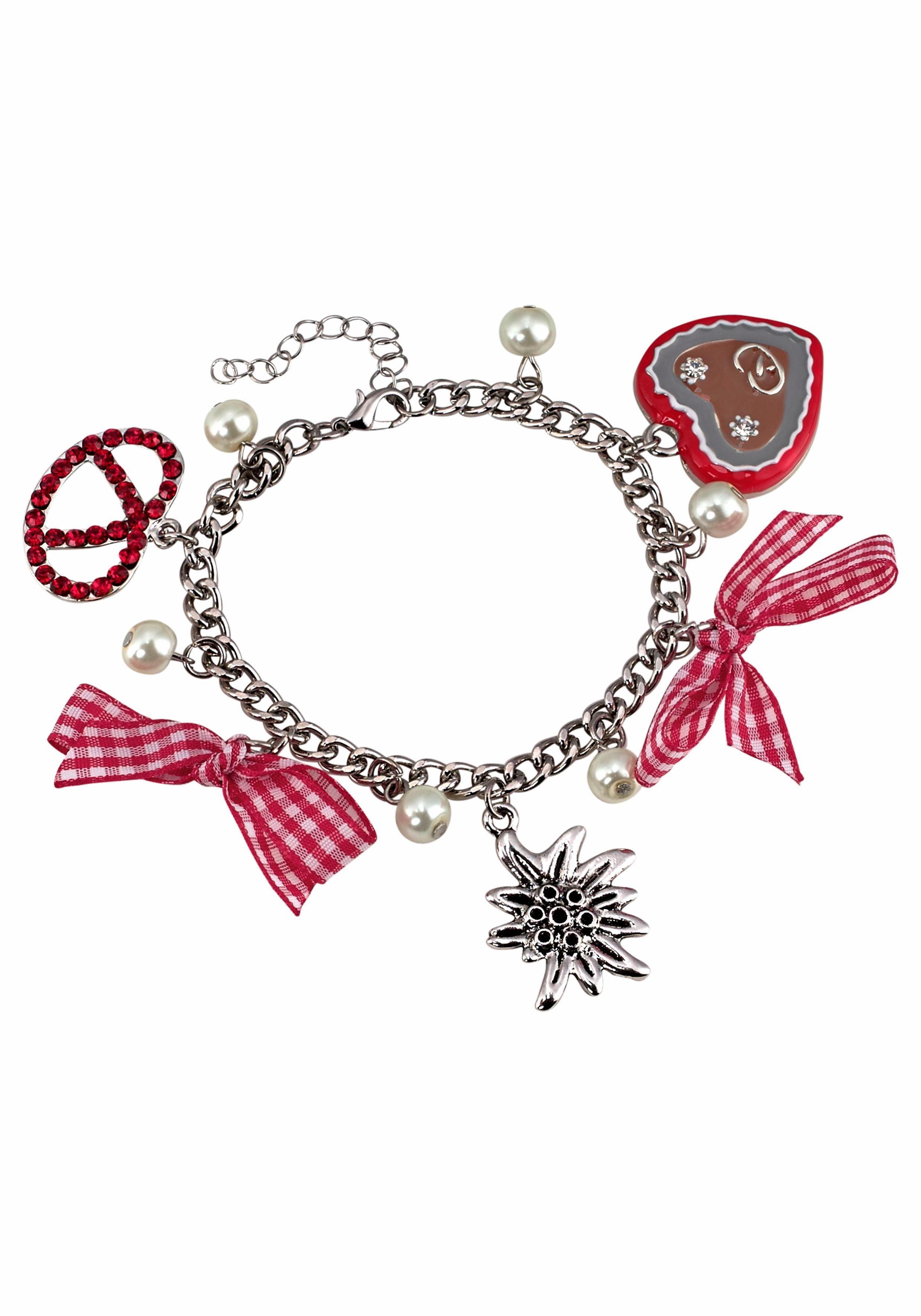 J.Jayz Armband, mit Herz, Brezel, Oktoberfest, Trachten