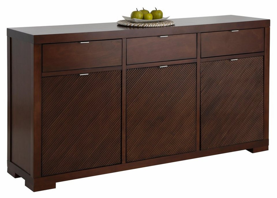 Home affaire Sideboard »Oregon«, Breite 160 cm in dunkelbraun