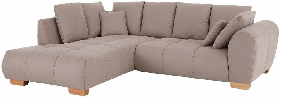 Eckcouch taupe  Home affaire Ecksofa »Indianapolis«, mit Federkern | OTTO
