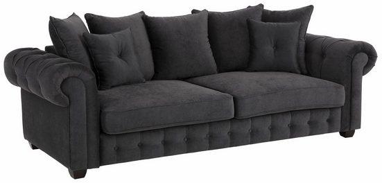 Home affaire 3-Sitzer »San Pedro«, Maße B/T/H: 234/100/94 cm - Sofa hat 4 (nicht 5) Rückenkissen und 2 Zierkissen