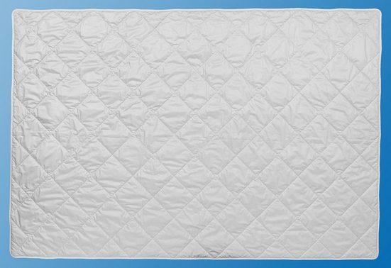 Microfaserbettdecke, »Summer Silk & Linen Sommerbettdecke«, Centa-Star, leicht, Füllung: 60% Seide / 40% Leinen, Bezug: 100% Baumwolle, (1-tlg)