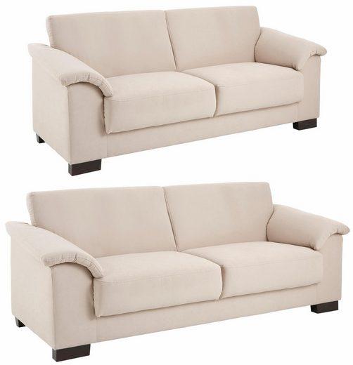 Home affaire Sitzgruppe »Anna«, (Set, 2-tlg), 2-Sitzer und 3-Sitzer