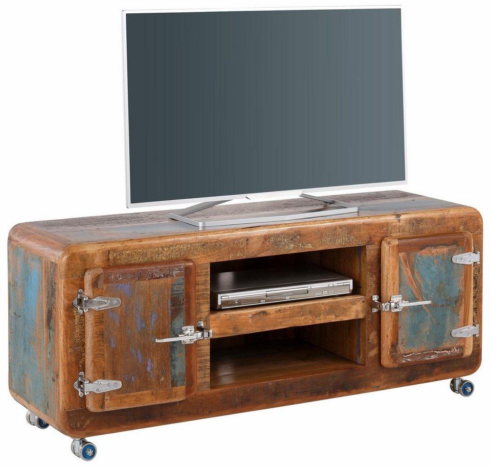 SIT Lowboard »Fridge«, Breite 135 cm mit Kühlschrankgriffen in braun/bunt