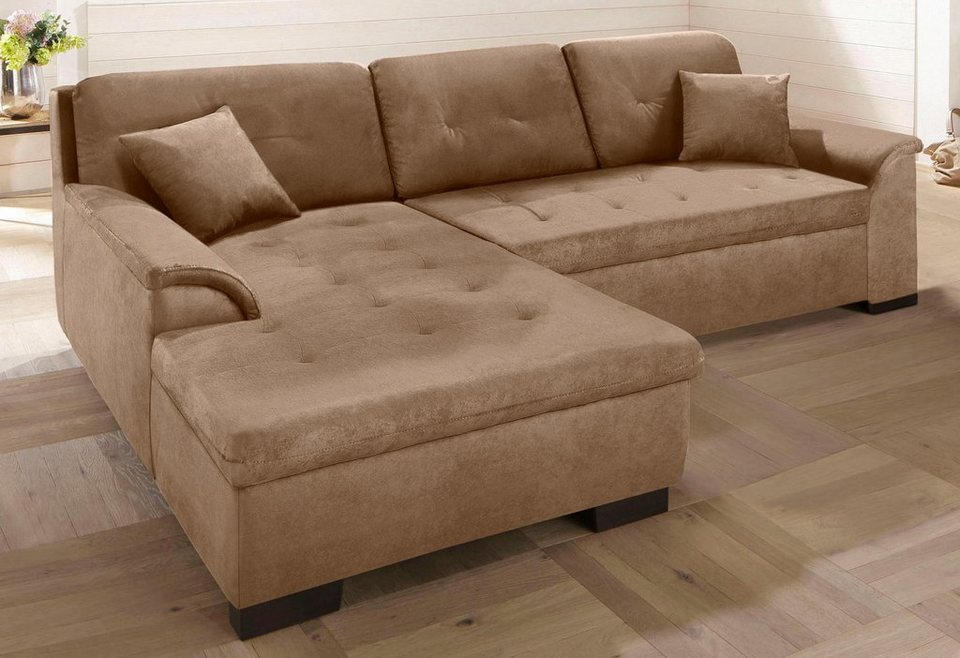 Xxl sofa mit bettfunktion  Home affaire XXL-Ecksofa »Bergen«, wahlweise mit Bettfunktion ...