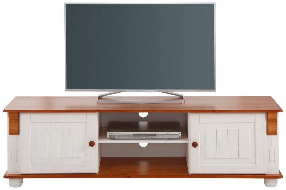 Home affaire Lowboard »Adele«, Breite 160 cm in weiß/kirschbaumfarben