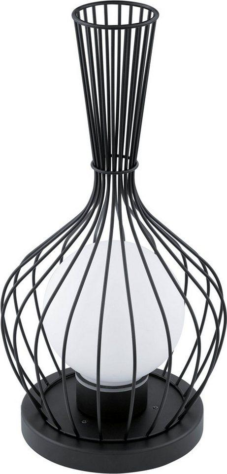 Eglo Außenleuchte, 1flg., Stehleuchte, »TERRICO« in Stahl, verzinkt/Glas satiniert